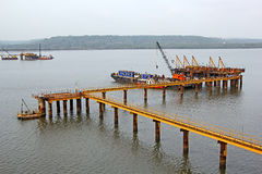 Marine Project Site Images stock