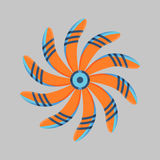 Marine propeller fan vector wind ventilator equipment ship blower cooler rotation technology power circle. Royalty Free Stock Images