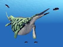 Marine Reptile Hupehsuchus Royaltyfria Bilder