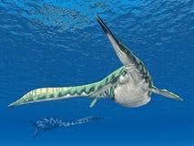Marine Reptile Hupehsuchus Arkivbilder