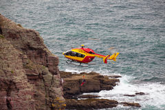 Marine Rescue helicopter Royalty Free Stock Image