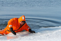 Marine rescue operation. Of the Baikal, Siberia Stock Photo