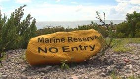 Marine reserve on Bonaire stock footage