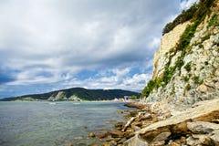 Marine resort. Marine coast, Sunny day on the sea, photo Royalty Free Stock Photo