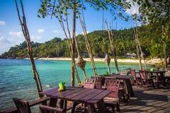 Marine restaurant on the beach. Koh Phangan Royalty Free Stock Image