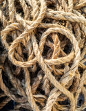 Marine rope background in Venice. Venice, around, background, boating, cleat,rope, rough, ship,fasten, fixed, iron, maritime Royalty Free Stock Photography
