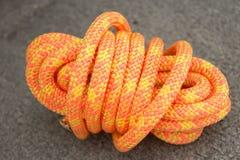 Marine Rope. Bundle of bright orange marine rope Stock Photography