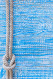 Marine rope on deck Royalty Free Stock Photography