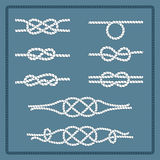Marine rope knot Stock Images
