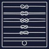 Marine rope knot Stock Image