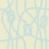 Marine rope knot seamless pattern. Royalty Free Stock Photography