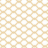 Marine rope knot seamless vector pattern Stock Photo