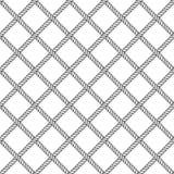 Marine rope knot seamless vector pattern. Nautical design. Navy illustration. Ocean wallpaper. Stripe elements Royalty Free Stock Photo