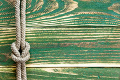 Marine rope knotted Royalty Free Stock Image