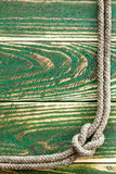 Marine rope knotted Royalty Free Stock Images