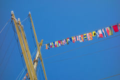 Marine rope ladder at pirate ship Royalty Free Stock Photos