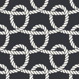 Marine rope loop seamless pattern Stock Photo