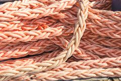 Marine rope pile of rope knot Stock Photos