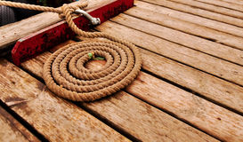 Marine rope spiral stock photography