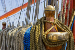 Marine ropes and rigging Royalty Free Stock Photo