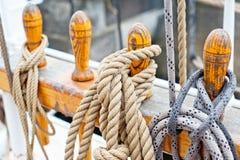 Marine ropes and tackles Royalty Free Stock Photo