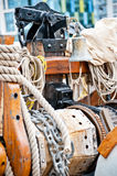 Marine ropes and tackles Royalty Free Stock Image