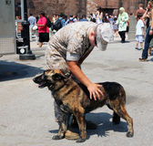 A marine's best friend Royalty Free Stock Images