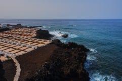 Marine Salinas de Fuencaliente de la Palma Immagini Stock Libere da Diritti