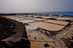 Marine Salinas de Fuencaliente de la Palma Immagine Stock
