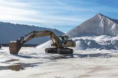 Marine salt industry. Sea salt industry in Torrevieja, Alicante province, Spain, Europe royalty free stock photo