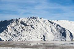 Marine salt industry. Sea salt industry in Torrevieja, Spain, Europe stock photography