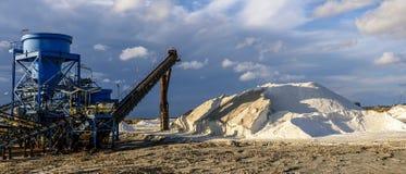 Marine salt production Stock Photos