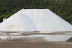 Marine salt production Royalty Free Stock Photography