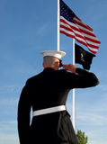 Marine salute Royalty Free Stock Photos