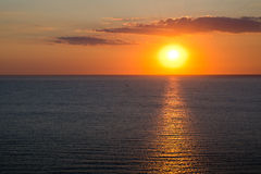 Marine scape. sunset on the sea Stock Photos