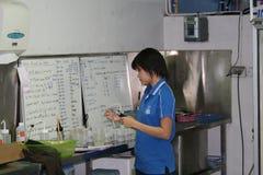 Marine scientist, thailand. Stock Photo