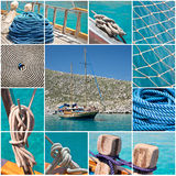 Marine sea collage Royalty Free Stock Images