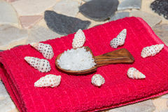 Marine sea salt for bathing Stock Images