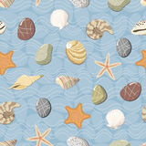 Marine seamless pattern Stock Photo