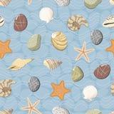 Marine seamless pattern. Vector illustration Stock Photo