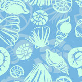 Marine seamless pattern Royalty Free Stock Photos