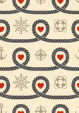 Marine seamless pattern Stock Image
