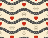 Marine seamless pattern Stock Images