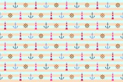 Marine seamless pattern background - cdr format Stock Photo