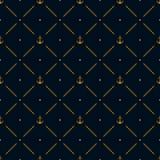 Marine seamless pattern background Stock Photos