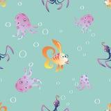 Marine seamless pattern background Stock Photography