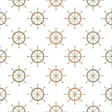 Marine seamless pattern with helm Royalty Free Stock Images