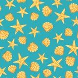 Marine seamless pattern vector illustration