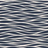 Marine seamless pattern with stylized blue waves on a light back. Ground. Water Wave abstract design Stock Photo