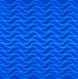 Marine seamless pattern with stylized blue waves on a light background. Water Wave sea ocean abstract vector design art. Marine seamless pattern with stylized stock illustration
